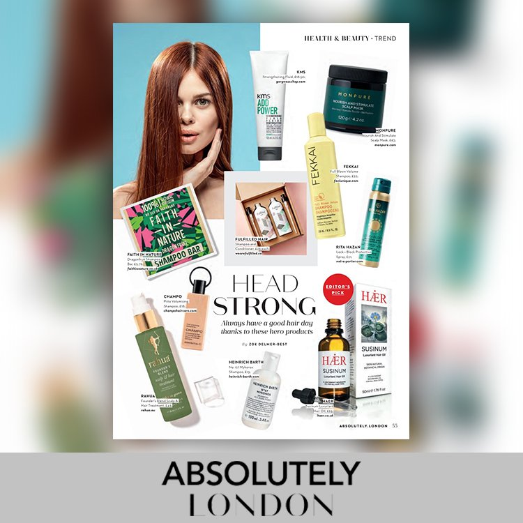 HAER featured in ABSOLUTELY Magazine as Editor's pick
