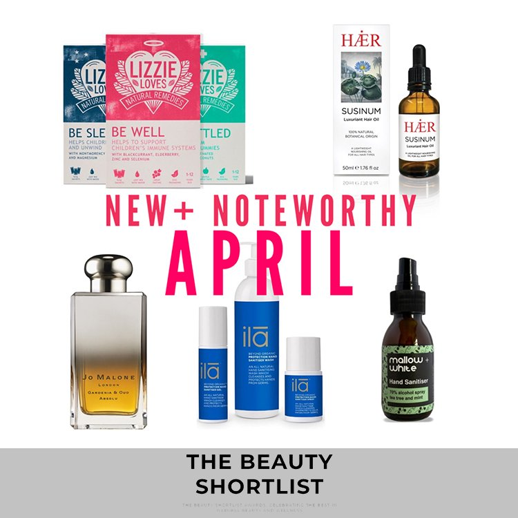 SUSINUM Luxuriant Hair Oil featured on the BEAUTY SHORTLIST: NEW+NOTEWORTHY: WHAT LOOKS INTERESTING IN APRIL?